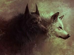 Les deux loups  dans Histoire deux-loups-dessin-par-dark-sheyn-1920x1200-300x222